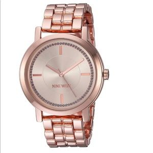 Nine West rose gold watch